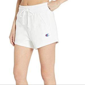 Champion Reverse Weave White Shorts